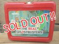 ct-120717-06 The Real Gohst Busters / 80's Plastic Lunchbox & Thermos