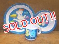 ct-121010-48 Pillsbury / Poppin Fresh 2000 Plastic Plate,Bowl & Mug