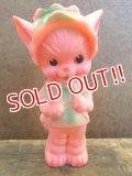 bt-121023-04 Sun Rubber / Ruth E Newton 50's Cat squeaky doll (Black eyes)