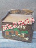 kt-121107-05 Vintage Wood Recipes Box