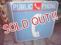 dp-111121-10 Vintage Public Phone Steel Sign