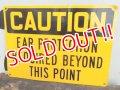 "dp-120705-39 Vintage Steel Sign ""CAUTION"""