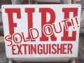 dp-130307-02 FIRE EXTINGUISHER Plastic Sign