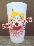 gs-130617-01 Hazle Atlas / 50's-70's Clown Tumbler