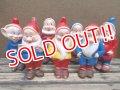 ct-130716-01 Seven Dwarfs / 60's Rubber doll set