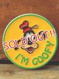 pb-909-13 Goofy / 70's Plastic Pinback