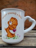 "ct-120710-04 Care Bears / 80's Ceramic Mug ""Tender Heart Bear"""