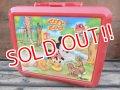 ct-131121-10 Mickey Mouse & Pluto / Aladdin 90's Plastic Lunchbox