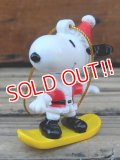 "ct-131122-94 Snoopy / Whitman's 2000's PVC Ornament ""Snowboard """