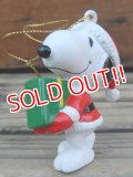 "ct-131122-99 Snoopy / Whitman's 90's PVC Ornament ""Santa"""