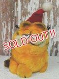 "ct-140211-72 Garfield / R.DAKIN 80's mini Plush Doll ""Santa"""