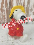 "ct-140218-14 Snoopy / Schleich 80's PVC ""Raincoat"""