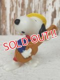 "ct-140218-15 Snoopy / Schleich 80's PVC ""Playing Guitar"""