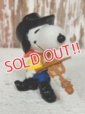"ct-140218-10 Snoopy / Schleich 80's PVC ""Fiddle"""