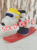 """ct-140218-07 Snoopy / Schleich 80's PVC """"Ski Jumping"""""""
