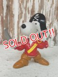 "ct-140218-12 Snoopy / Schleich 80's PVC ""Pirate"""