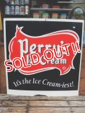 dp-140116-01 Perry's Ice Cream / Vintage W-side Plastic sign