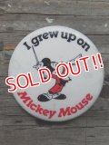 "pb-140114-05 Mickey Mouse / Vintage Pinback ""I grew up on"""