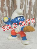 "ct-140409-09 Smurf PVC / 1997 TEAM McDonald's PLAYER Smurf ""Baseball Pitcher"""