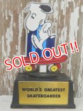 "ct-140510-08 Snoopy / AVIVA 70's Trophy ""World's Greatest Skateborder"""