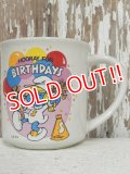 "ct-140509-19 Smurfette / 80's Ceramic Mug ""Hooray For Birthdays"""