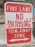 "dp-140606-01 Road sign ""FIRE LANE NO PARKING"""