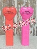 pz-130917-04 Neon Valentine's Heart / 90's PEZ Dispenser set of 2