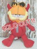 "ct-140909-25 Garfield / 90's Plush Doll ""Red Devil"""