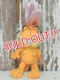 "ct-140909-25 Garfield / 90's Plush Doll ""Easter Bunny"""