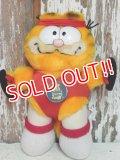 """ct-140909-25 Garfield / R.DAKIN 80's Plush Doll """"Aerobics"""""""
