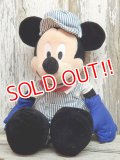 """ct-141014-37 Mickey Mouse / 2000's Plush doll """"Overall"""""""