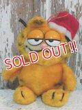 """ct-140909-25 Garfield / Dakin 80's Plush Doll """"Santa"""""""