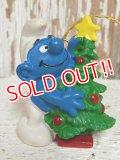 """ct-140715-15 Smurf / PVC Ornament """"Christmas Tree"""" #51901"""