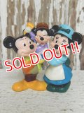 "ct-141209-77 Mickey Mouse & Minnie Mouse / Applause PVC ""Christmas Carol"""