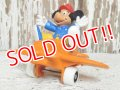 ct-141209-78 Mickey Mouse / Bully 80's PVC w/Air Plane