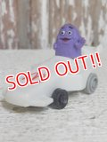 """ct-150407-72 McDonald's / Grimace 1988 Meal Toy """"TURBO MACS"""""""