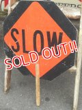 "dp-150421-07 Road sign ""STOP×SLOW"""