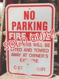 "dp-150501-07 Road sign ""FIRE LANE NO PARKING"""