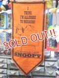 "ct-151001-11 PEANUTS / 60's Banner ""Snoopy"" Orange"