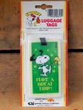 "ct-151104-20 Snoopy / AVIVA 70's Luggage Tags ""Have a Great Trip"""