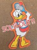 """ct-151110-09 Donald Duck / 70's Vinyl Magnet """"Tennis"""""""
