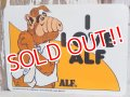 "ct-151208-31 ALF / 80's Plastic Sign ""I LOVE ALF"""