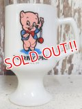 kt-160106-04 Porky Pig / Federal 70's Footed mug