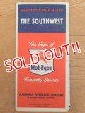 """dp-160501-22 Mobiloil / 50's Road Map """"THE SOUTHWEST"""""""
