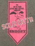 "ct-160519-11 PEANUTS / 60's Banner ""Snoopy"" Pink"