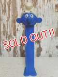 "pz-130917-04 Smurf / 80's PEZ Dispenser ""Thin feet Blue Stem"""