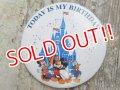 ct-160615-23 Disneyland / Today is My Birthday Pinback