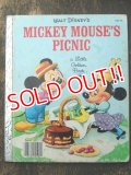 bk-160615-19 Mickey Mouse's Picnic / 80's Little Golden Book