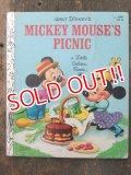 bk-160706-16 Mickey Mouse's Picnic / 80's Little Golden Book