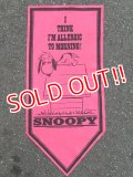 "ct-160901-37 PEANUTS / 60's Banner ""Snoopy"" Pink"